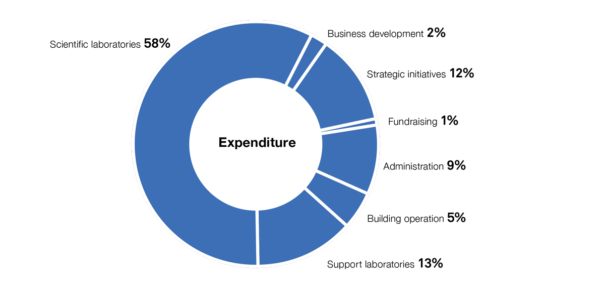 Institute expenditure graph
