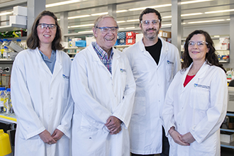 Researchers standing together