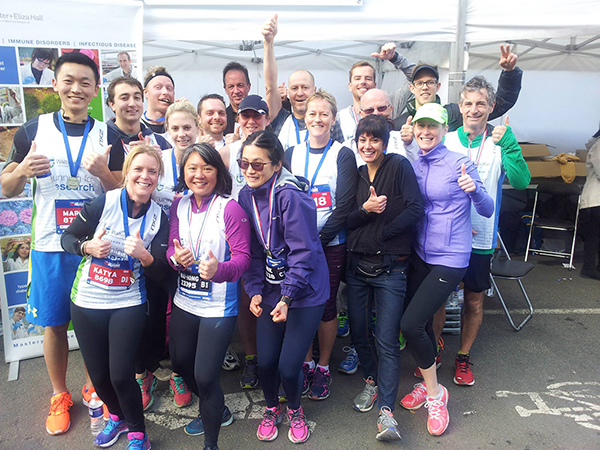 Some of our 2016 Run Melbourne team celebrate.