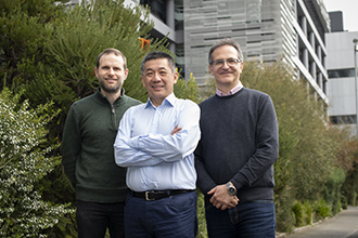(L-R) Dr Mark van Delft, Professor David Huang and Professor Guillaume Lessene led the study at the Walter and Eliza Hall Institute.