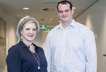 Dr Samantha Emery and Dr Ryan Cross