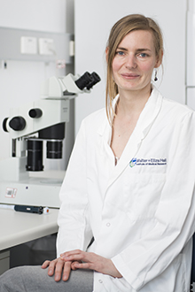 Dr Dana Westphal in a laboratory