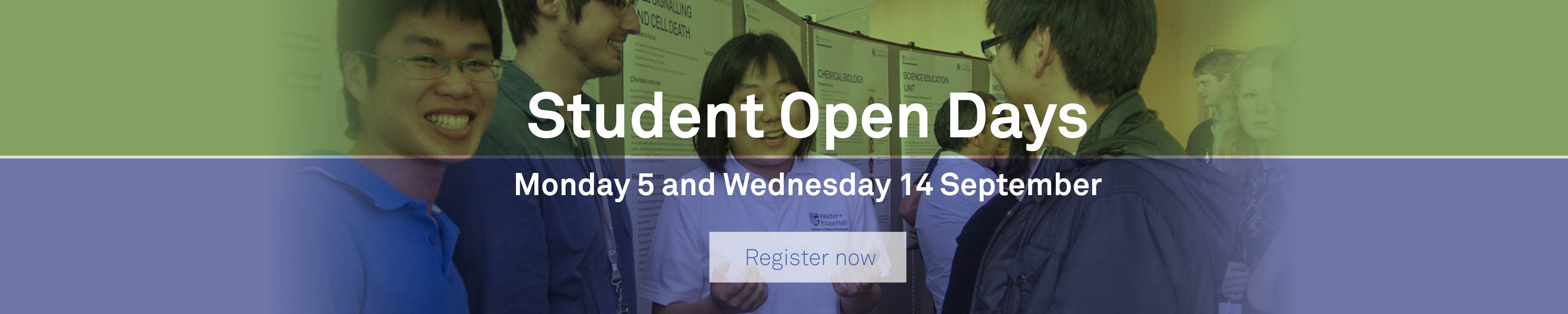 Student Open Day event information
