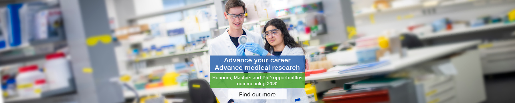 Opportunities for Honours, Masters and PhD study