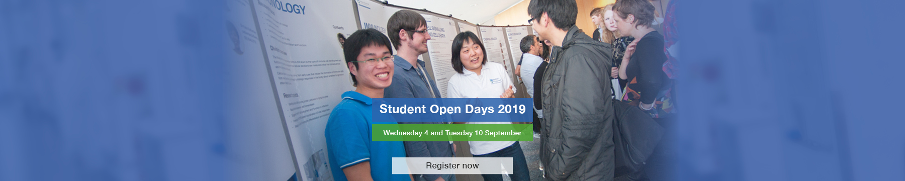 Student Open Days 4 and 10 September 2019
