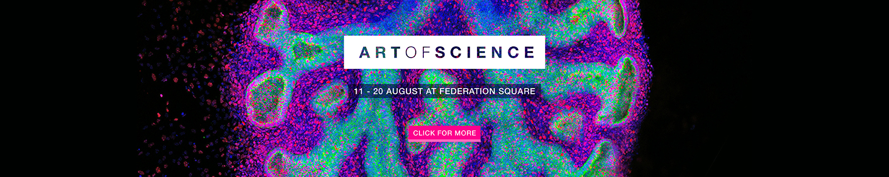 Art of Science exhibition promotion