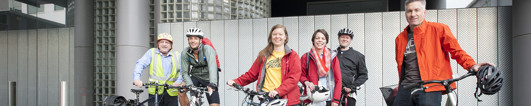 Staff with bicycles
