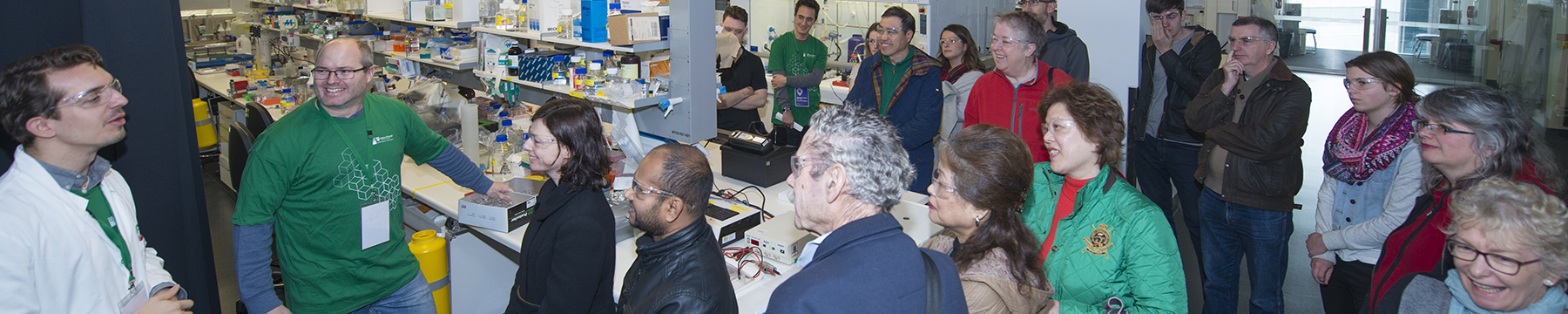 Tour group in a laboratory