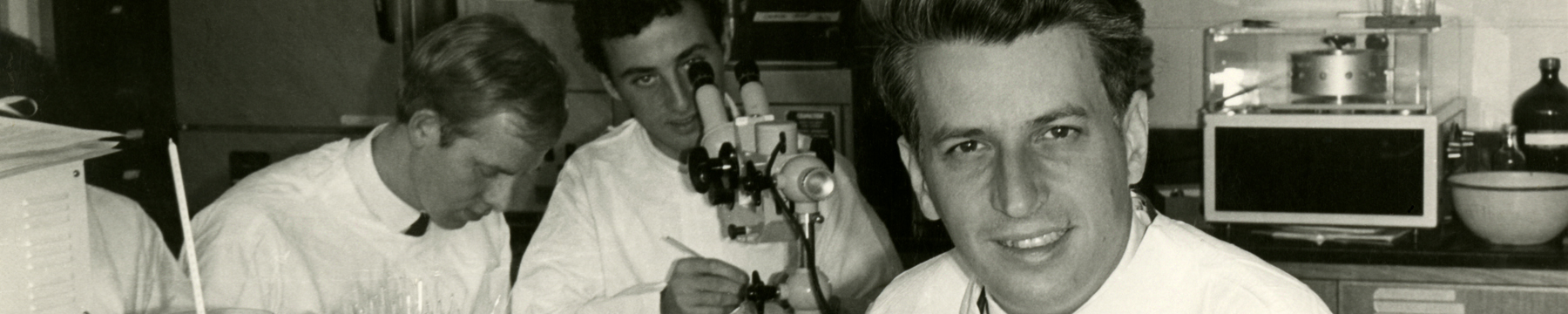 Gustav Nossal in the Cellular Immunology Unit, 1966