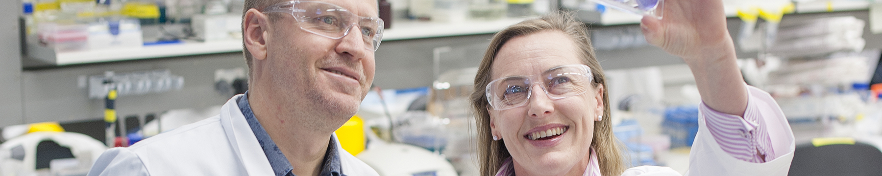 Doug Hilton and Gabrielle Belz in lab
