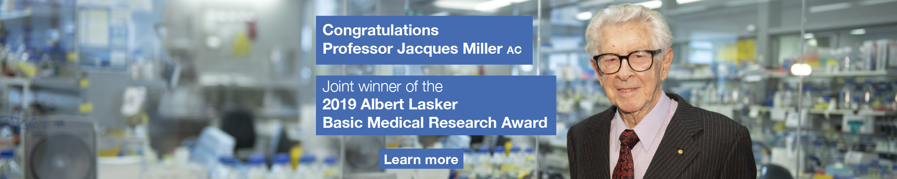Jacques Miller Lasker Award graphic