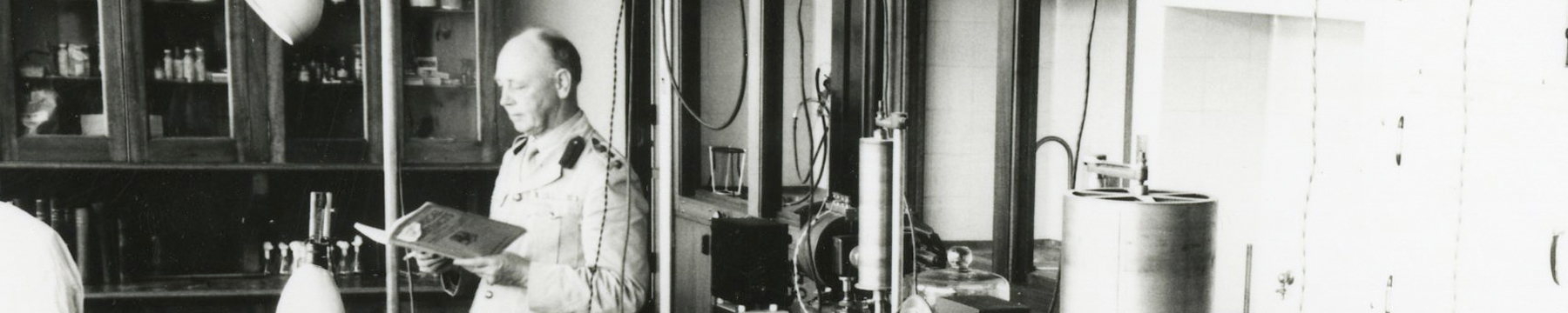 Dr Charles Kellaway in the lab