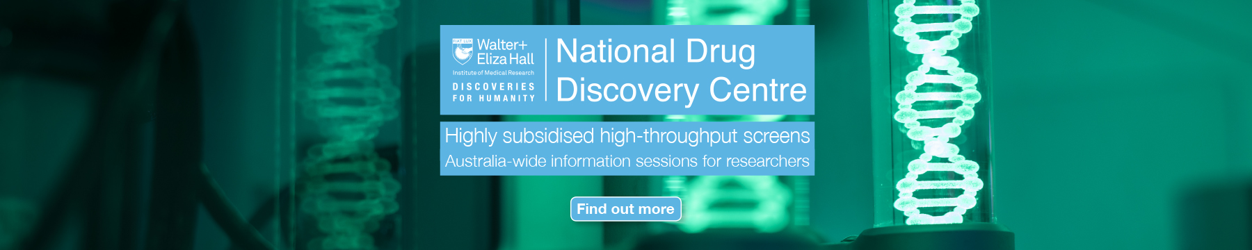 National Drug Discovery Centre information sessions promo