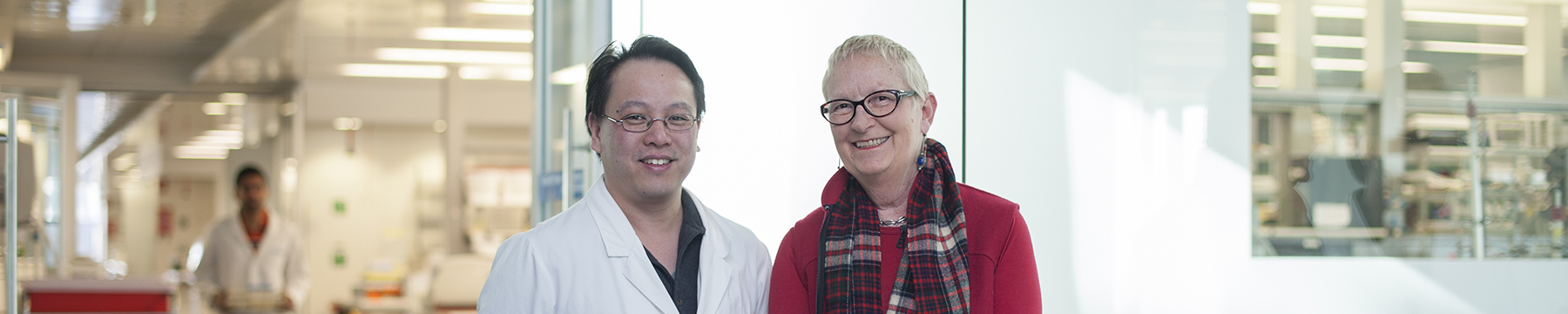 Dr Ashley Ng with Roz Edmond