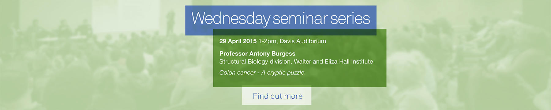 Wednesday scientific seminar series