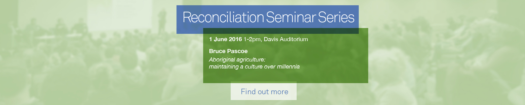 Bruce Pascoe seminar promotion