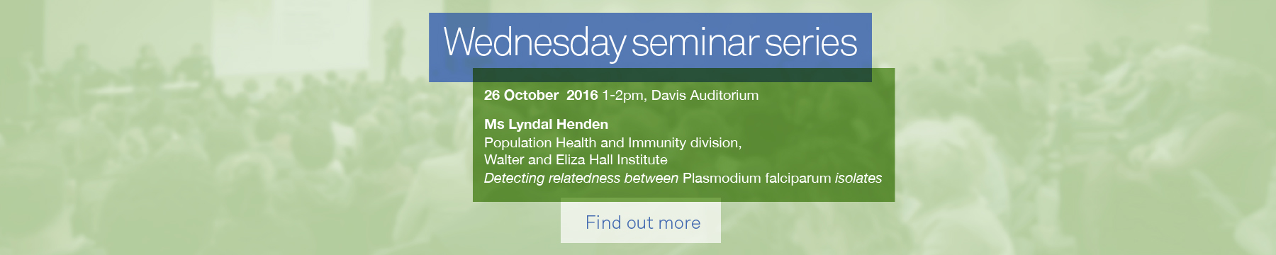 Wednesday seminar series promotion