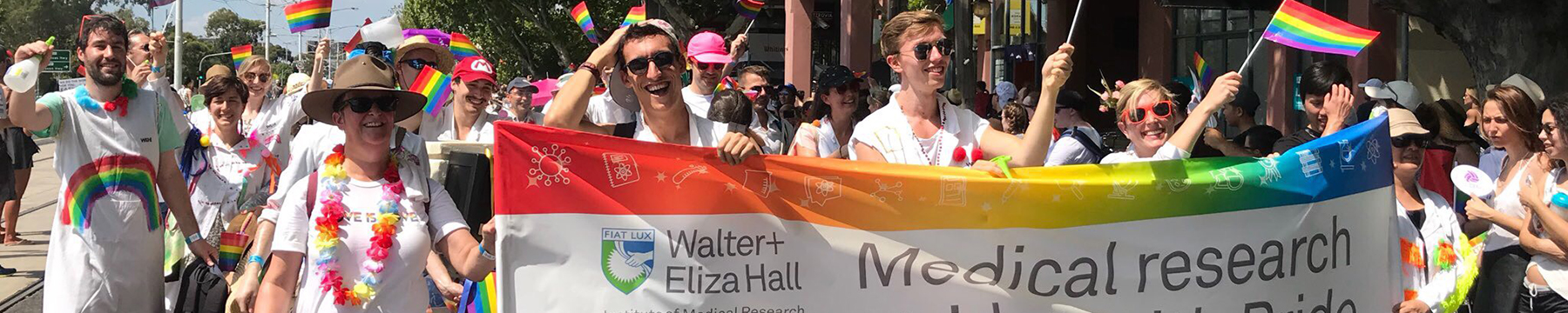 Institute employees at Midsumma Pride March