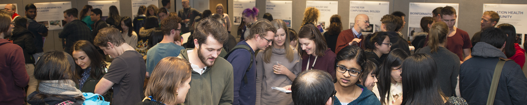 Students and supervisors at Student Open Day