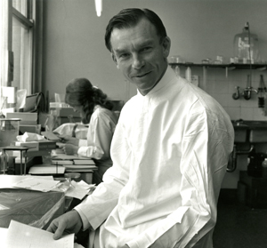 Professor Ian Mackay in the lab