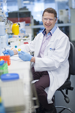 Marc Pellegrini in a laboratory