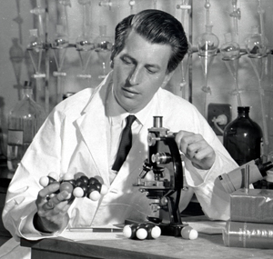 Nossal in the laboratory