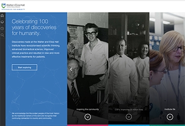 Discovery Timeline homepage