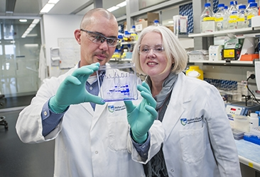 Associate Professor Matthew Call and Dr Melissa Call in the laboratory