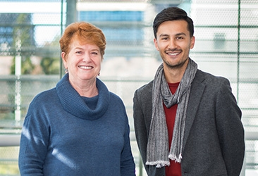 Consumer buddy Marjie Courtis with researcher Jai Rautela