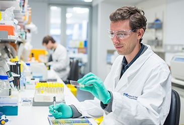 Associate Professor Seth Masters in a laboratory