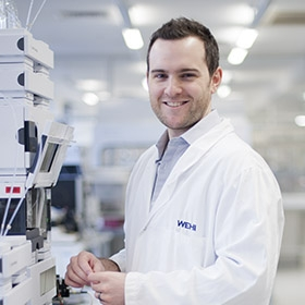 Dr Andrew Webb in the lab