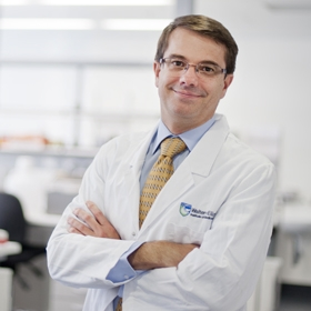 Professor Andrew Roberts in the lab