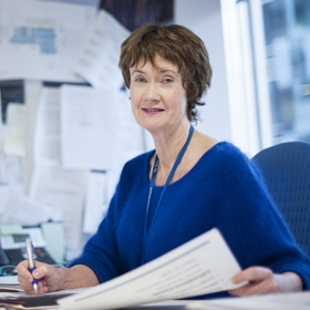 Dr Catheryn O'Brien in her office