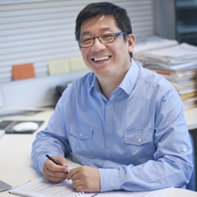 Professor David Huang in his office