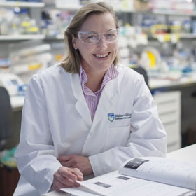 Professor Gabrielle Belz in the lab