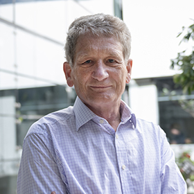 Professor James McCarthy photographed outside WEHI