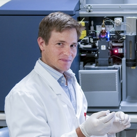 Dr John Wentworth in the lab