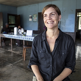Associate Professor Leanne Robinson in Papua New Guinea