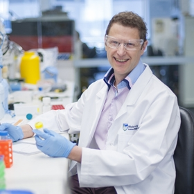 Professor Marc Pellegrini in the lab