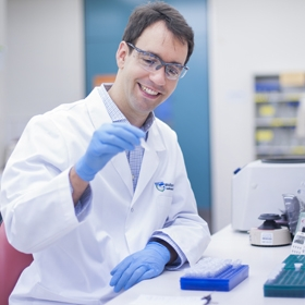 Associate Professor Oliver Sieber in a laboratory