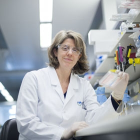 Associate Professor Ruth Kluck in a laboratory
