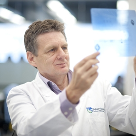 Professor Alan Cowman in the lab
