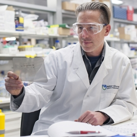 Dr Axel Kallies in the lab