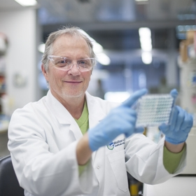 Professor David Tarlinton in the lab