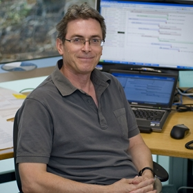 Dr Ian Street in his office