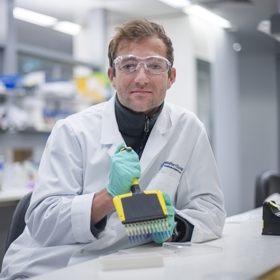 Dr James Vince in a laboratory