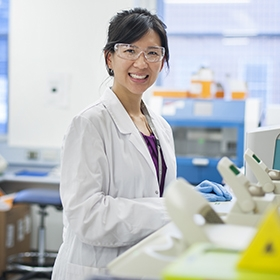 Dr Margaret Lee in a laboratory
