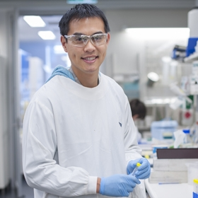 Dr Michael Low in the lab