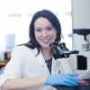 Dr Mary Ann Anderson in the lab