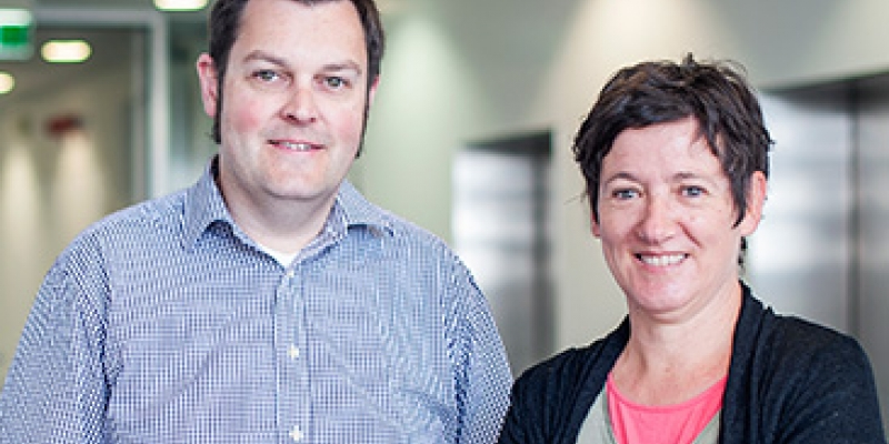 Dr James Murphy and Dr Isabelle Lucet